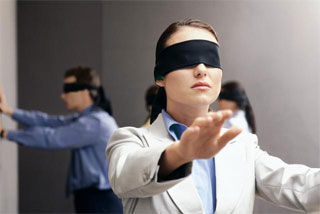 Blindfolded Team Building Activity for schools - Blindfold Pass